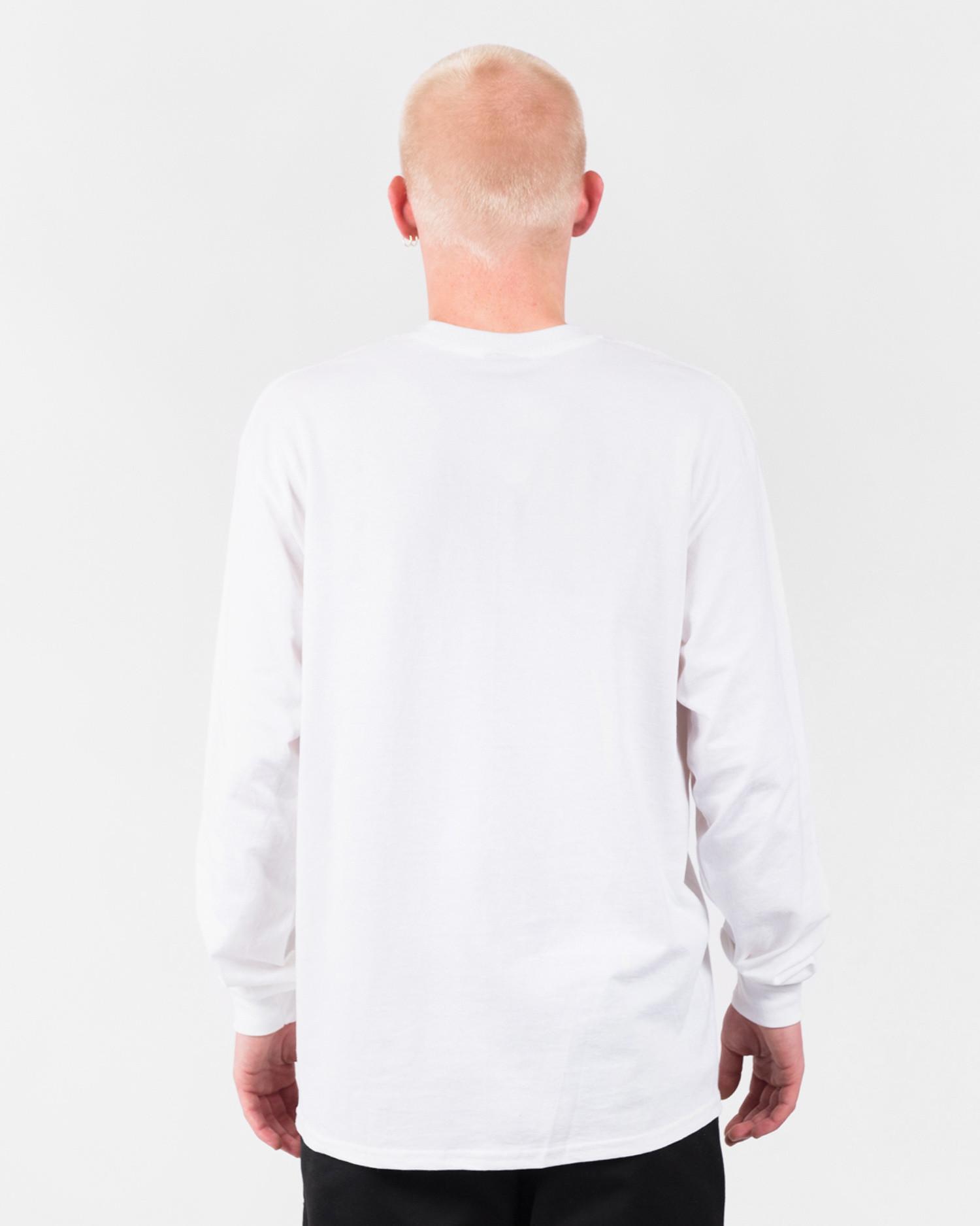 Hockey Nik Stain Longsleeve T-Shirt White