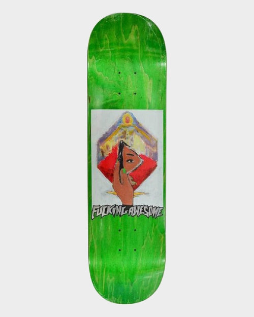 Fucking Awesome Fucking Awesome Deck Dill Mirror Painting Green 8.25