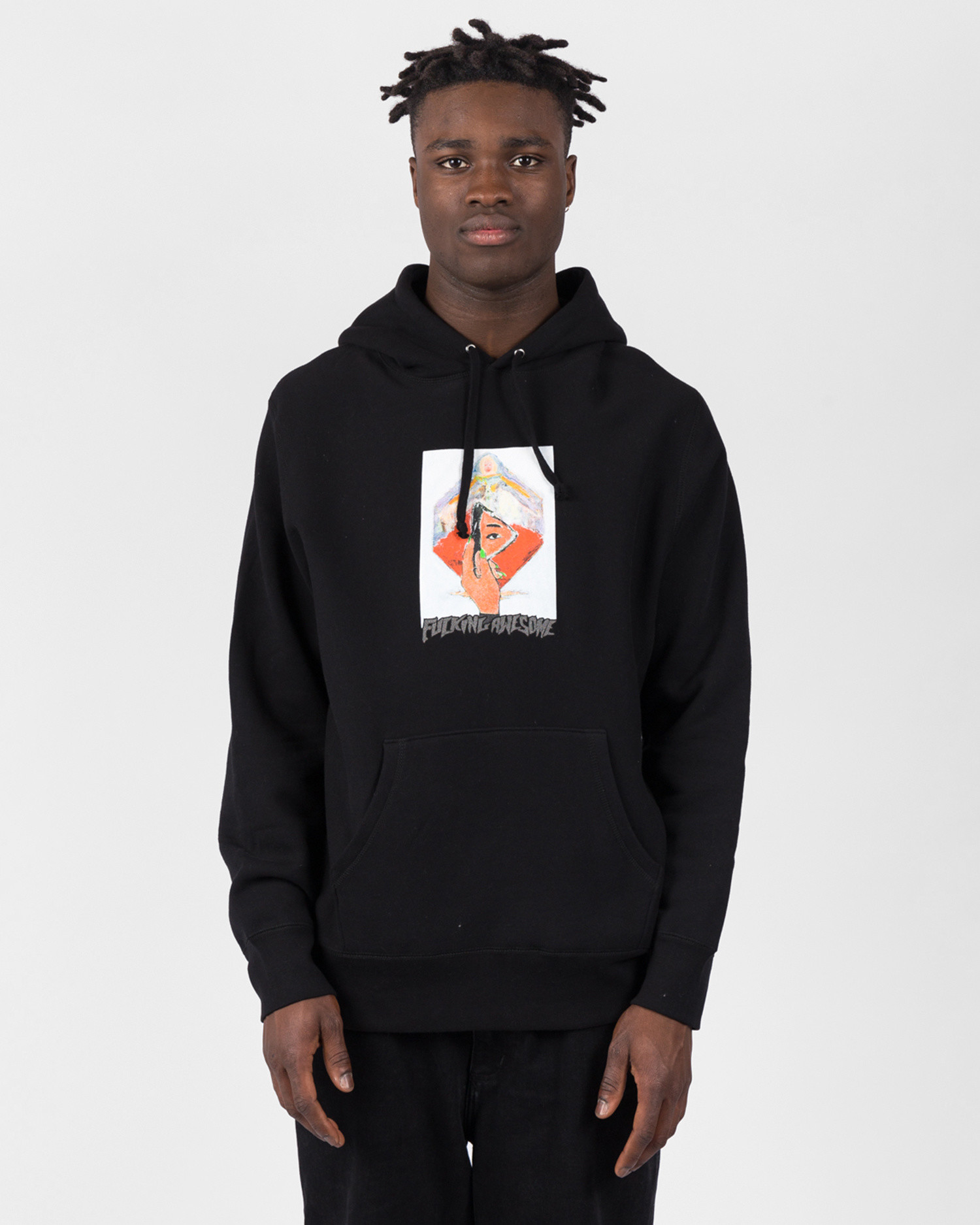 Fucking Awesome Dill Mirror Painting Hoodie Black