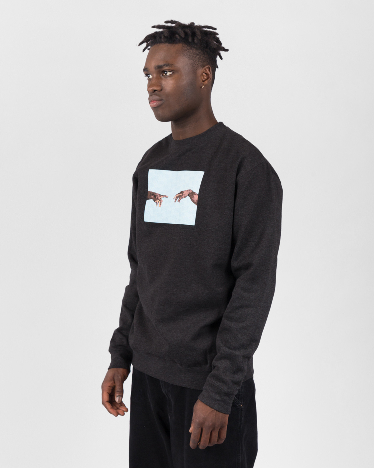 Fucking Awesome Nak Hands Crewneck Charcoal Heather