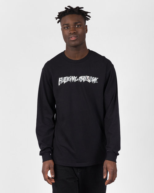 Fucking Awesome Fucking Awesome Actual Visual Guidance Longsleeve Tee Black