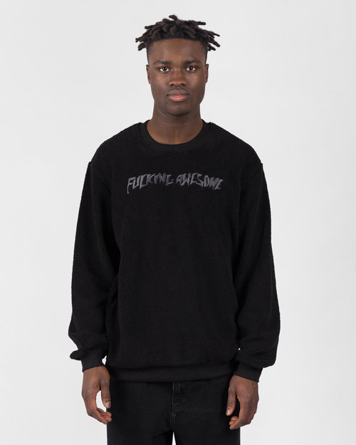 Fucking Awesome Fucking Awesome Pile Polar Fleece Crewneck Black