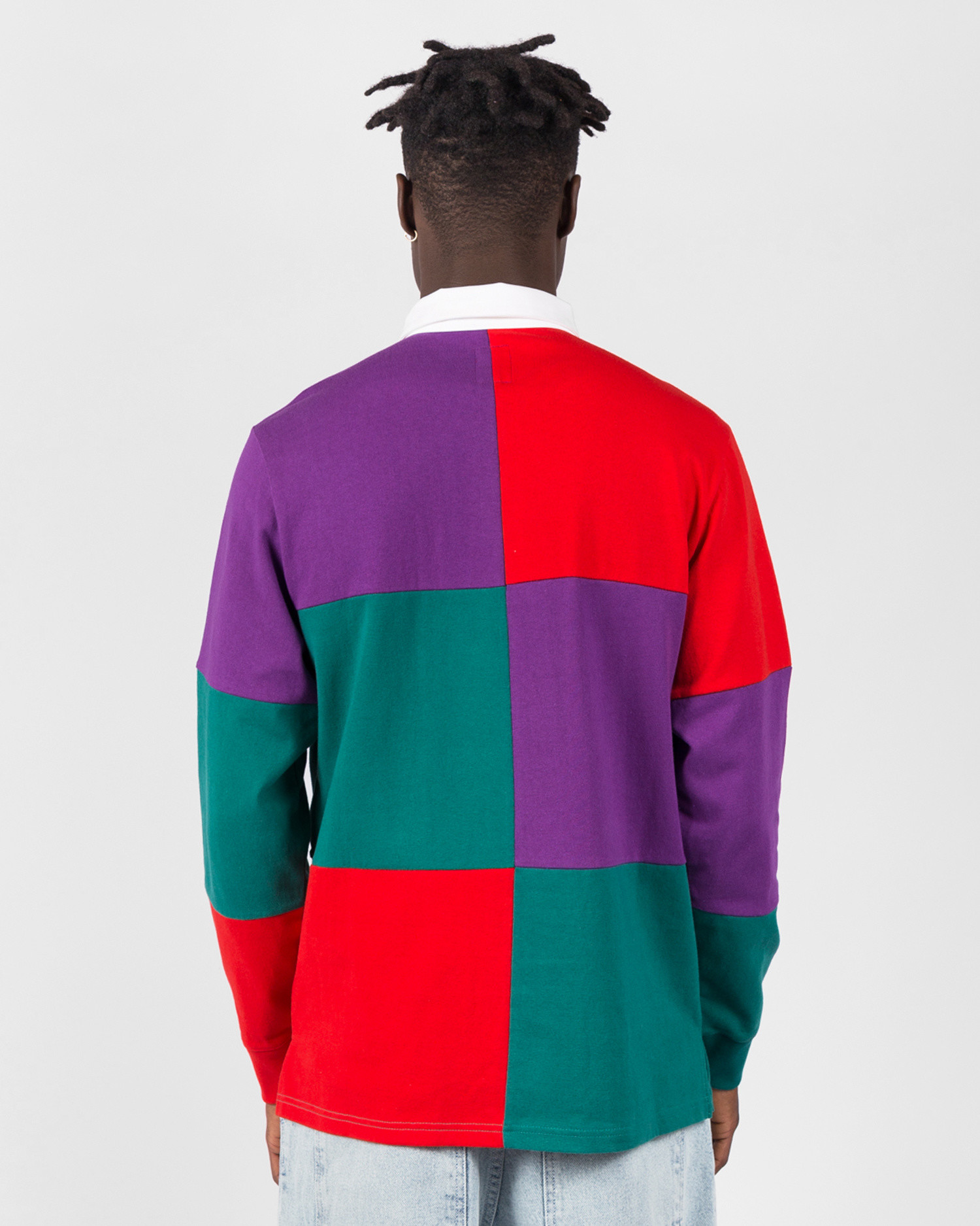 Have A Good Time Rugby Shirt Red/Purple/Blue Green