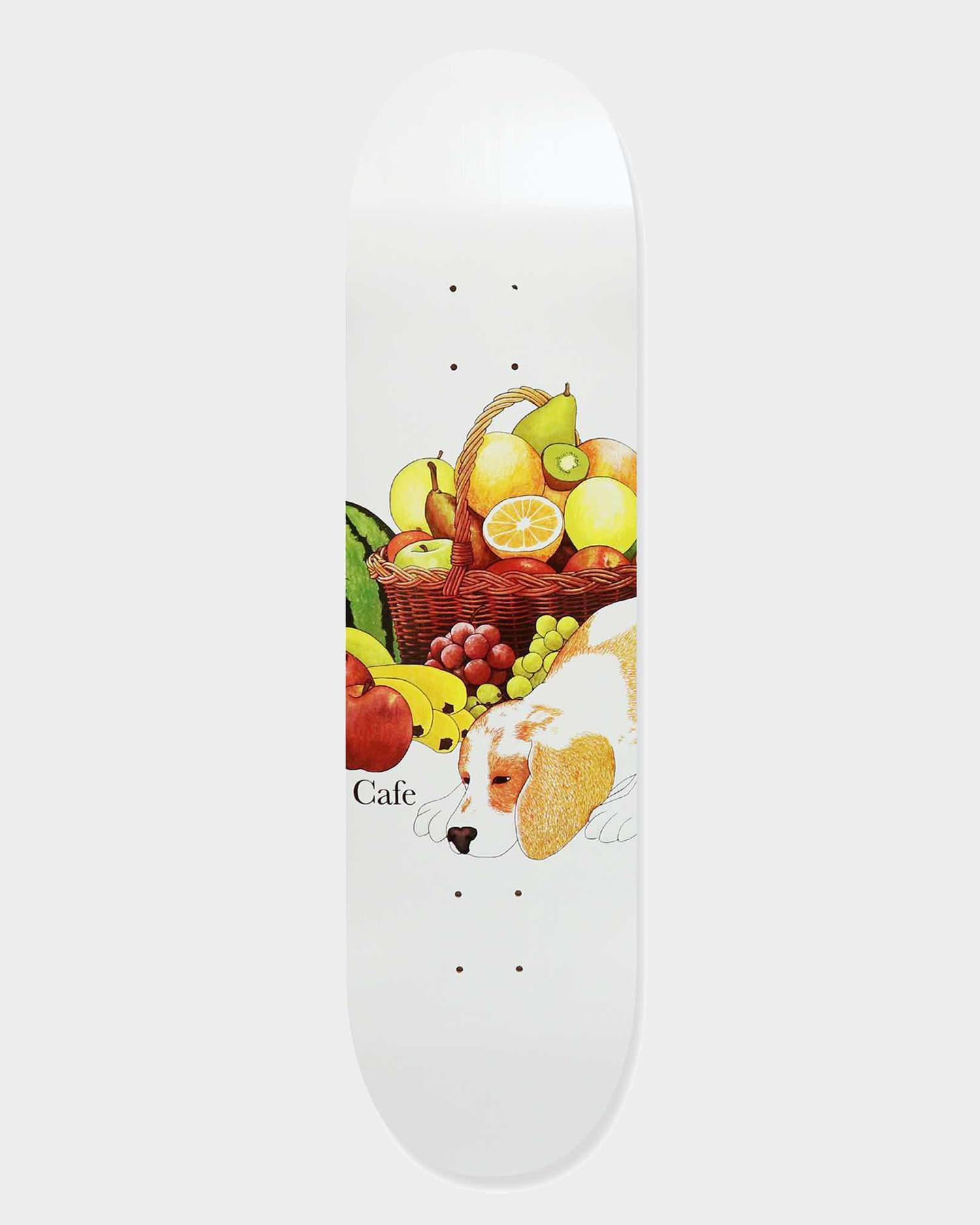 Skateboard Cafe Healthy Deck White 8.25