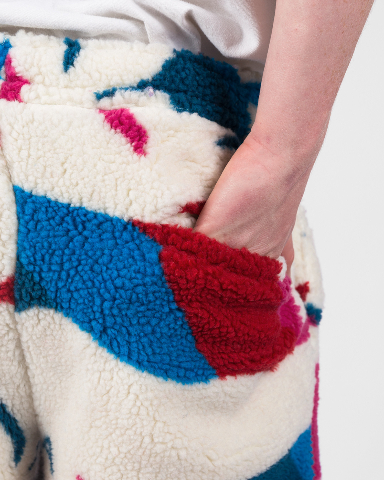 Parra Jumping Foxes Sherpa Fleece Pants Off White