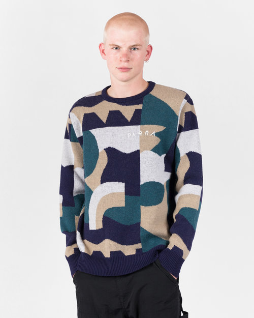 Parra Parra City Planning Premium Knitted Pullover Multicolor