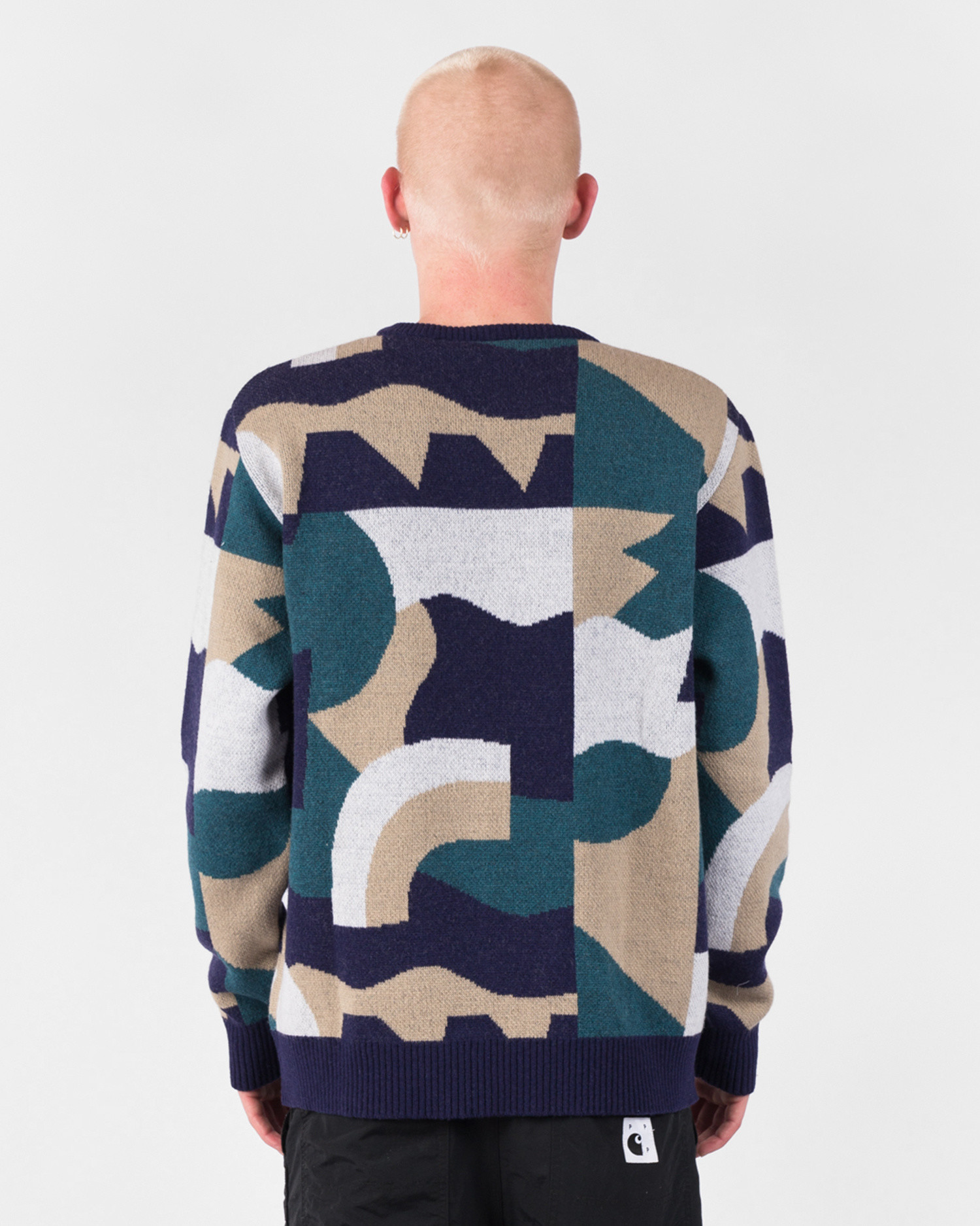Parra City Planning Premium Knitted Pullover Multicolor