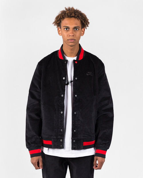 Nike Nike SB Varsity Jacket Black/Black/University Red/Black