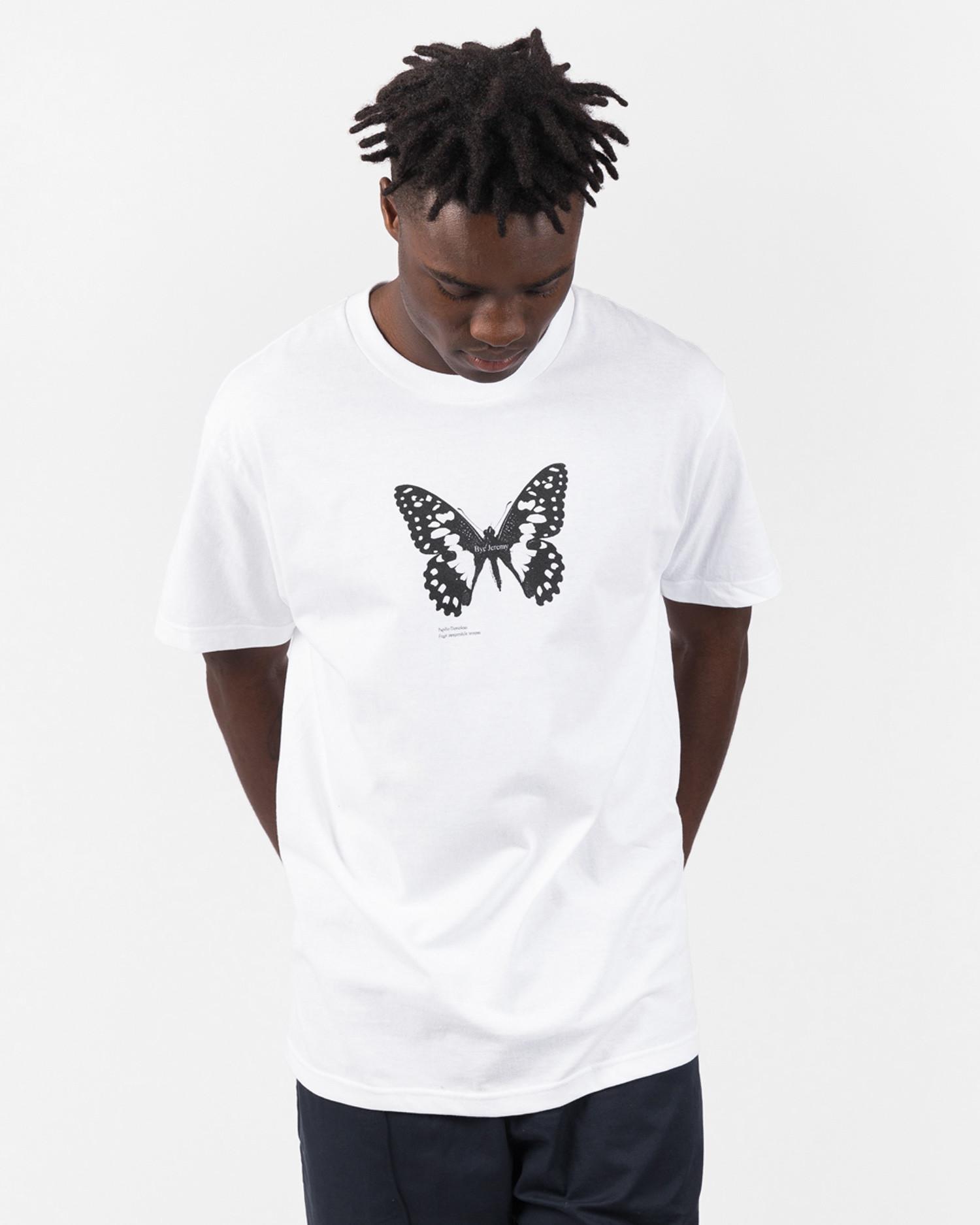 Bye Jeremy Butterfly T-Shirt White