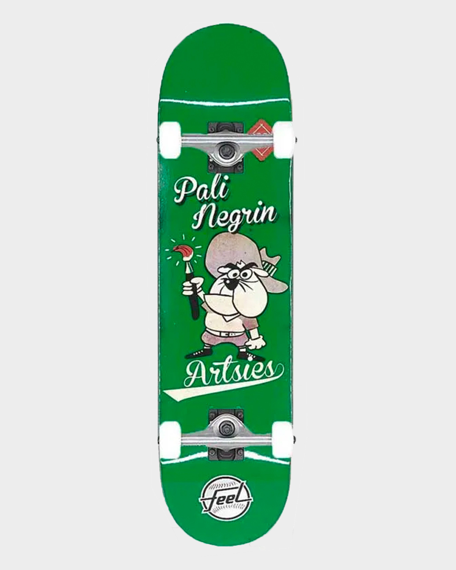 Feel Skateboards Artsies Complete Green 7.75
