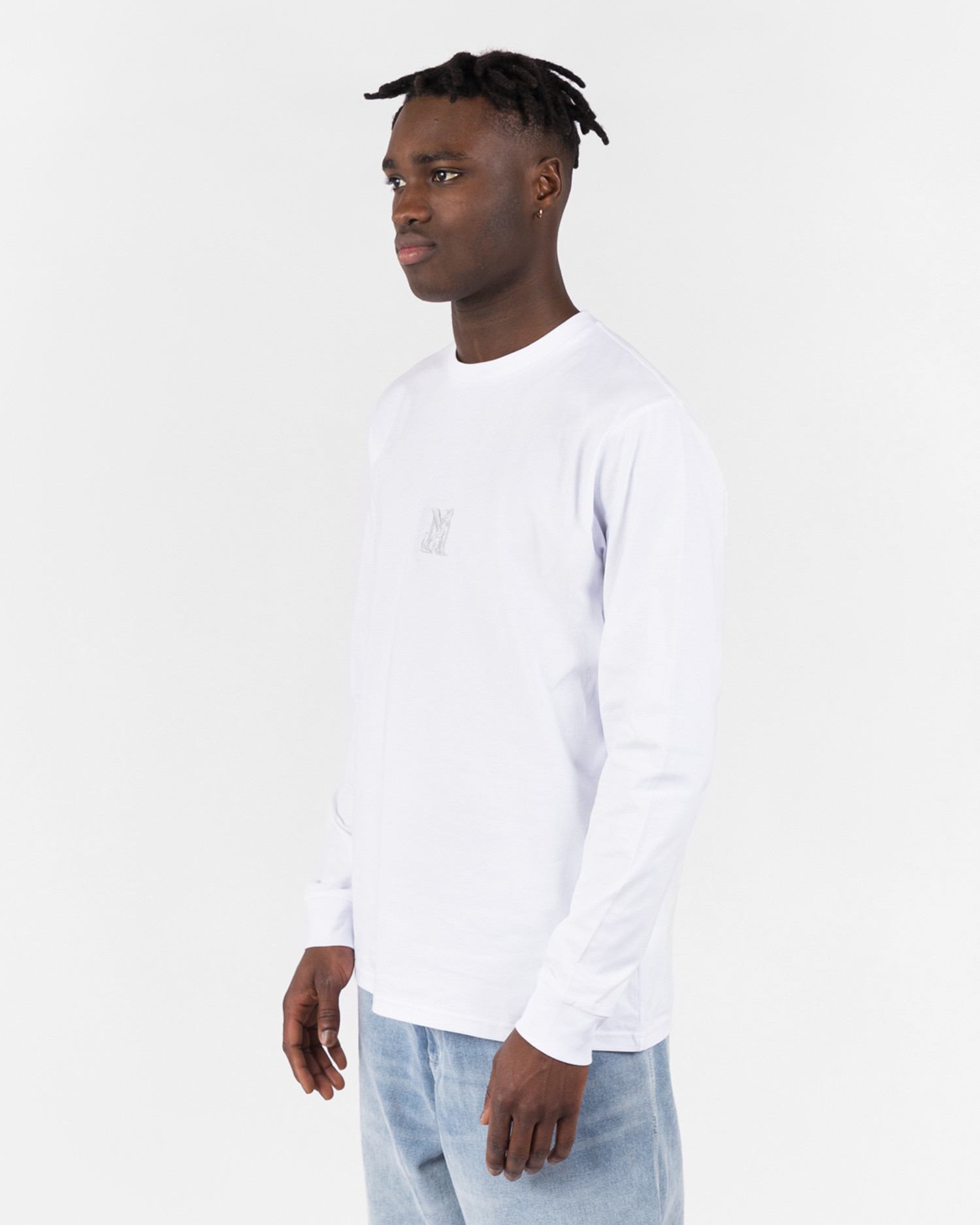 NO US Wall Longsleeve T-Shirt White