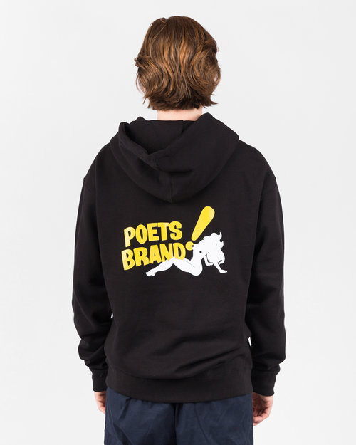 Poets Poets Bing! Hooded Sweater Black