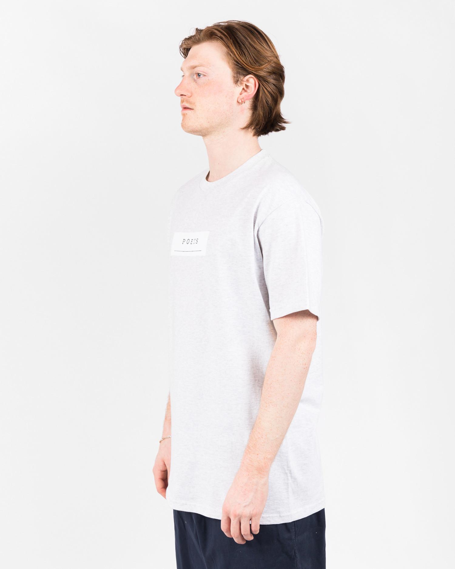 Poets Frank Morris Short Sleeve T-Shirt Heather Grey