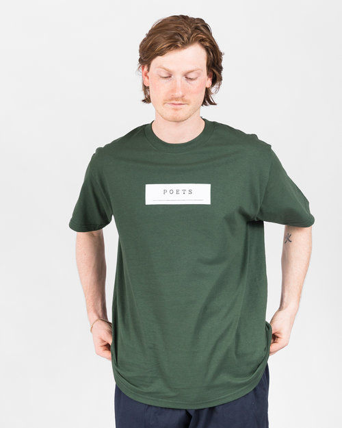 Poets Poets Frank Morris Short Sleeve T-Shirt Green