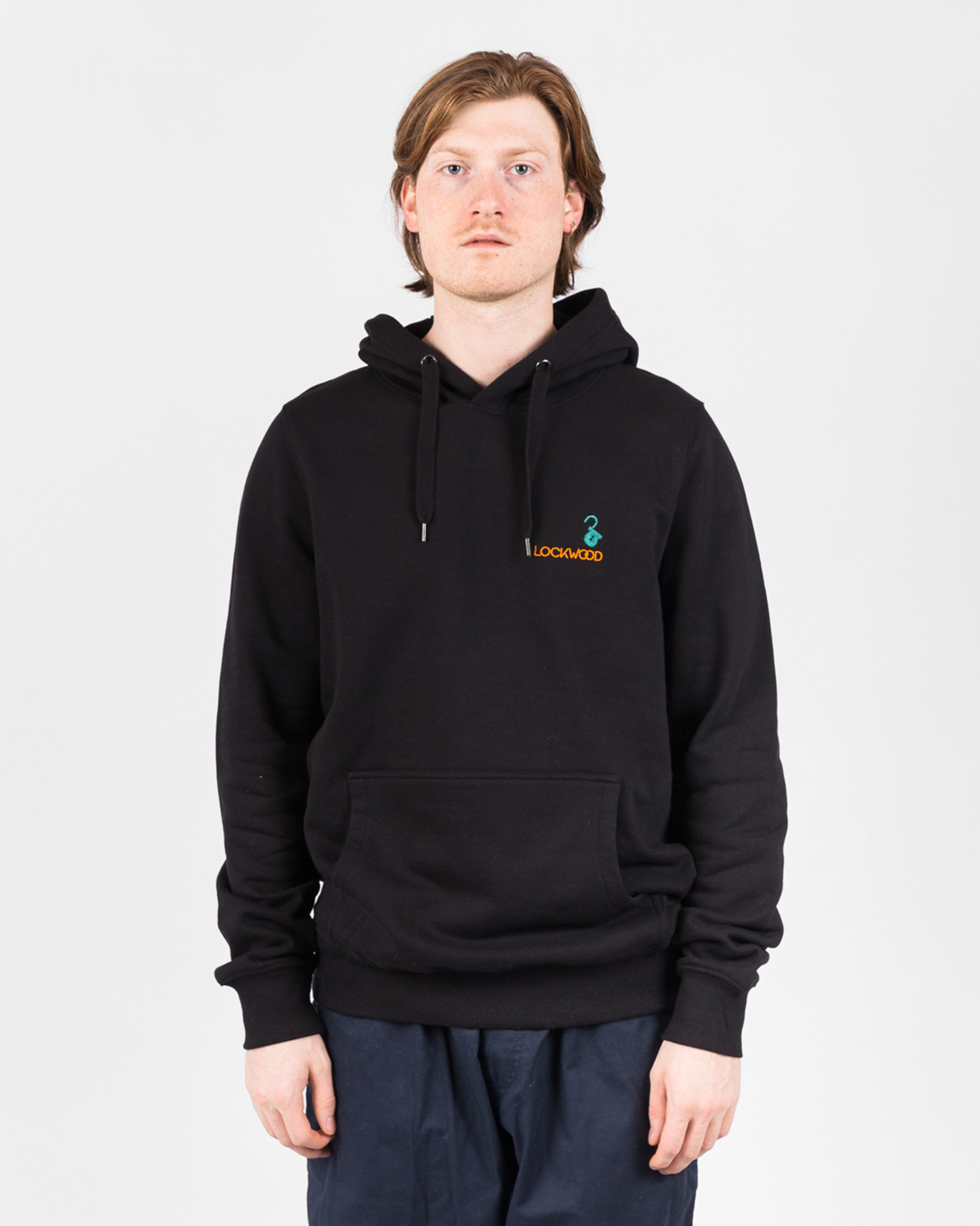 Lockwood Embroidery Hoody Black