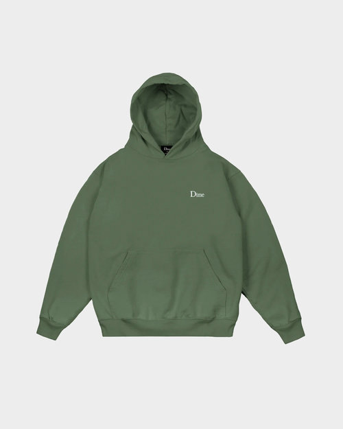 Dime Dime Classic Small Logo Hoodie Olive