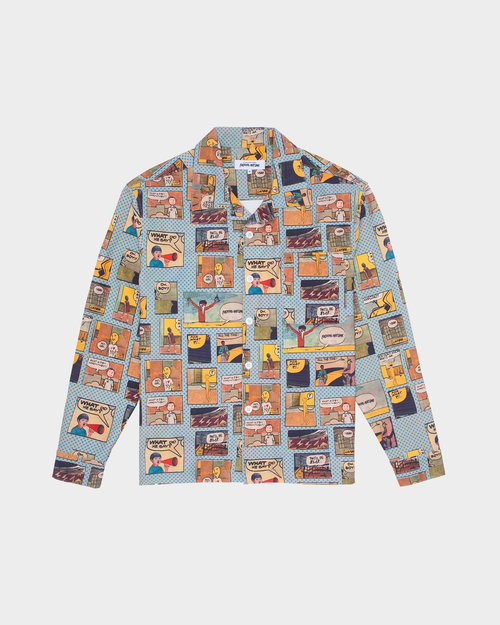 Fucking Awesome Fucking Awesome Long Sleeve Graphic Shirt Blue Comic