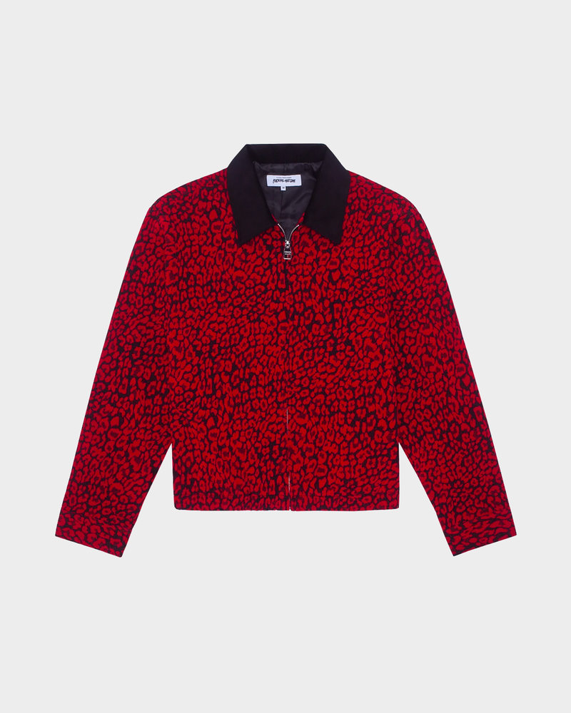 Fucking Awesome Fucking Awesome Tailored Work Jacket Red Roses / Black Cord Collar