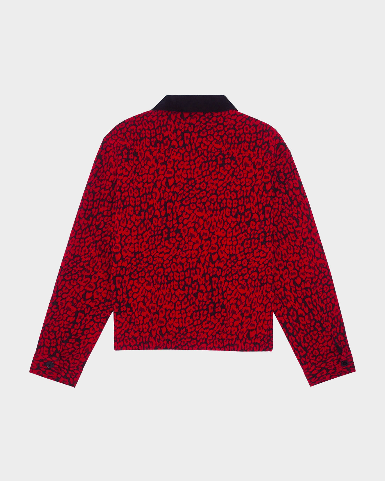 Fucking Awesome Tailored Work Jacket Red Roses / Black Cord Collar