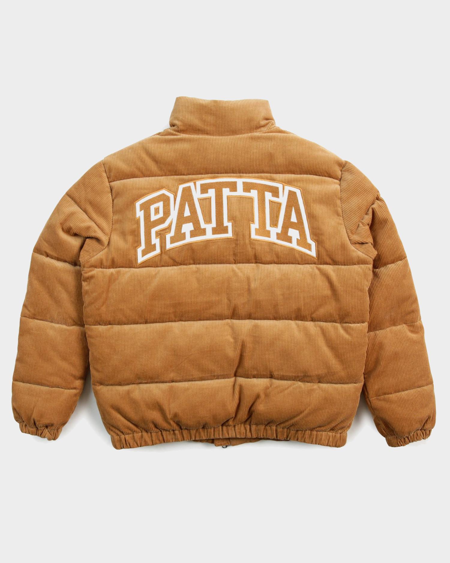 Patta Corduroy Puffer Jacket Brown Sugar