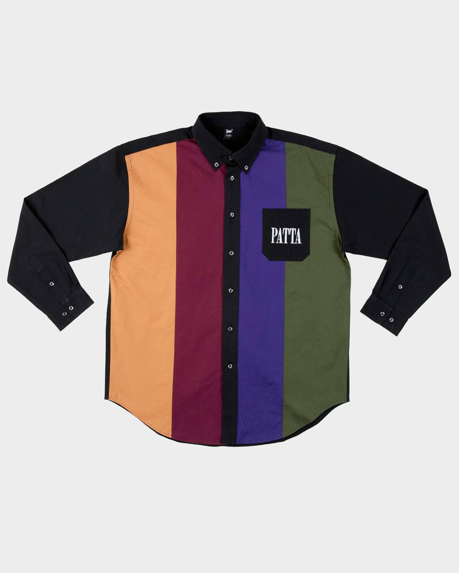 Patta Panelled Relaxed Button Down Shirt Multi