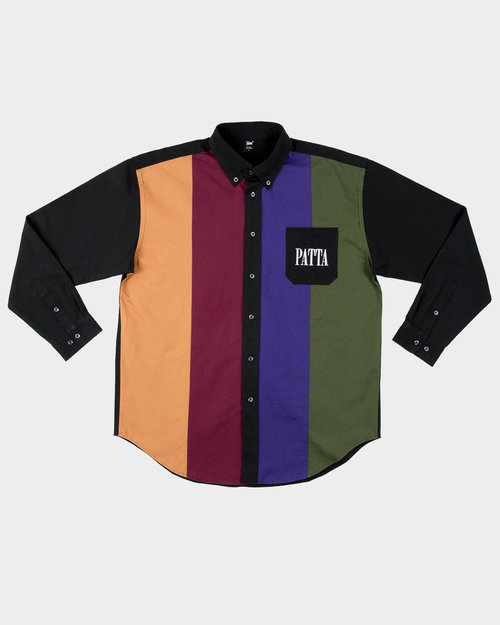 Patta Patta Panelled Relaxed Button Down Shirt Multi