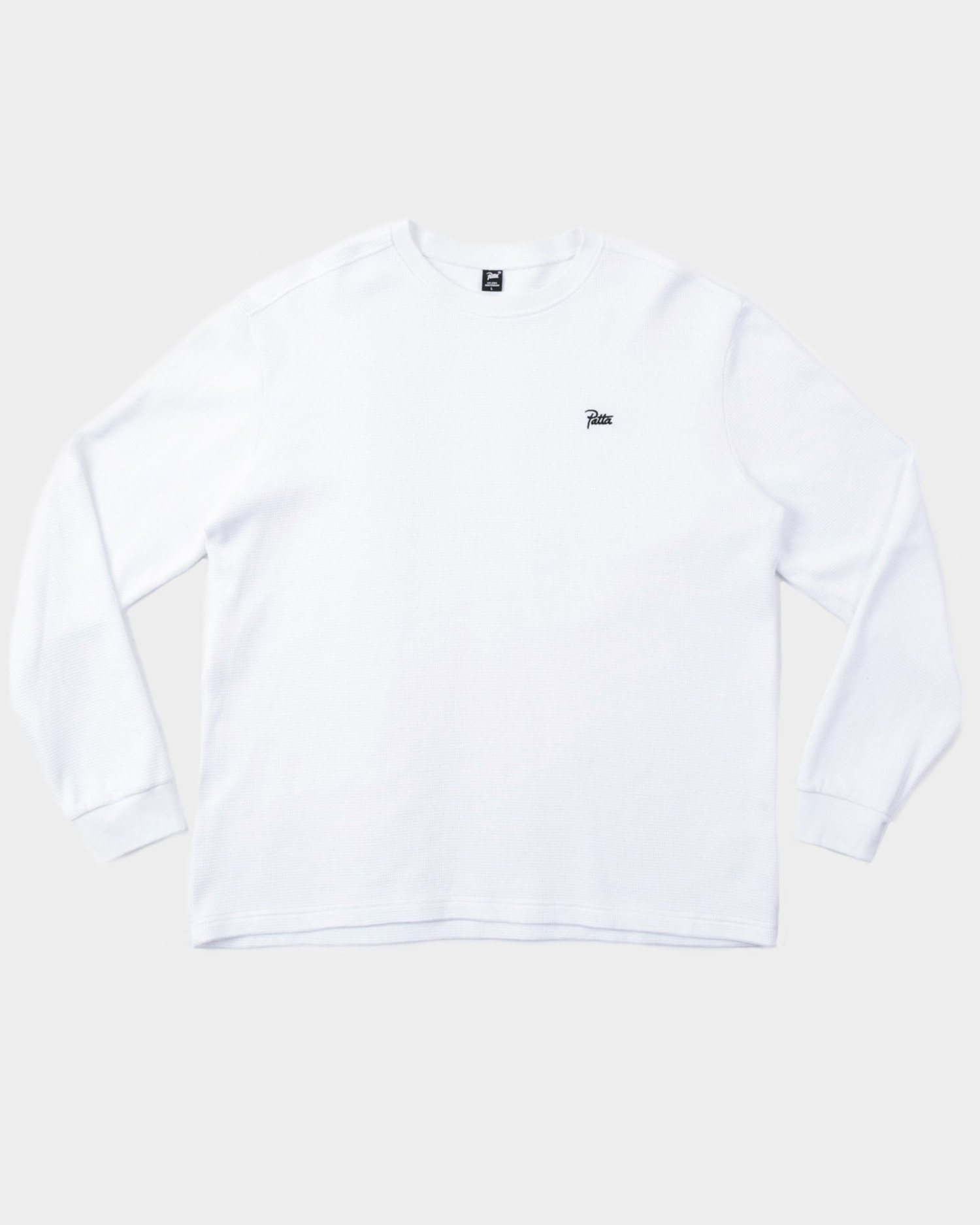 Patta Waffle Thermal L/s White