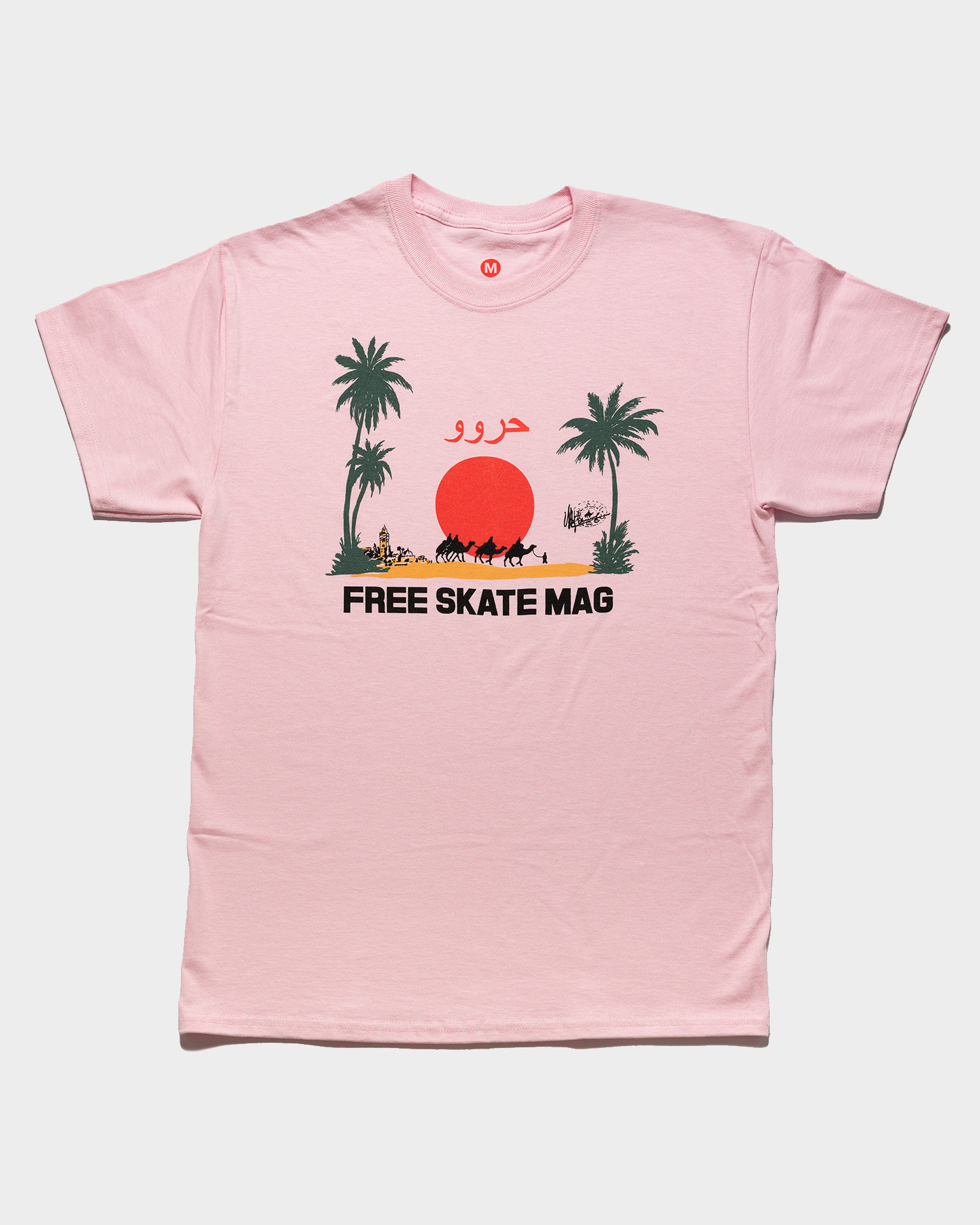 Free Skate Mag OG Marrakesh T-Shirt Pink