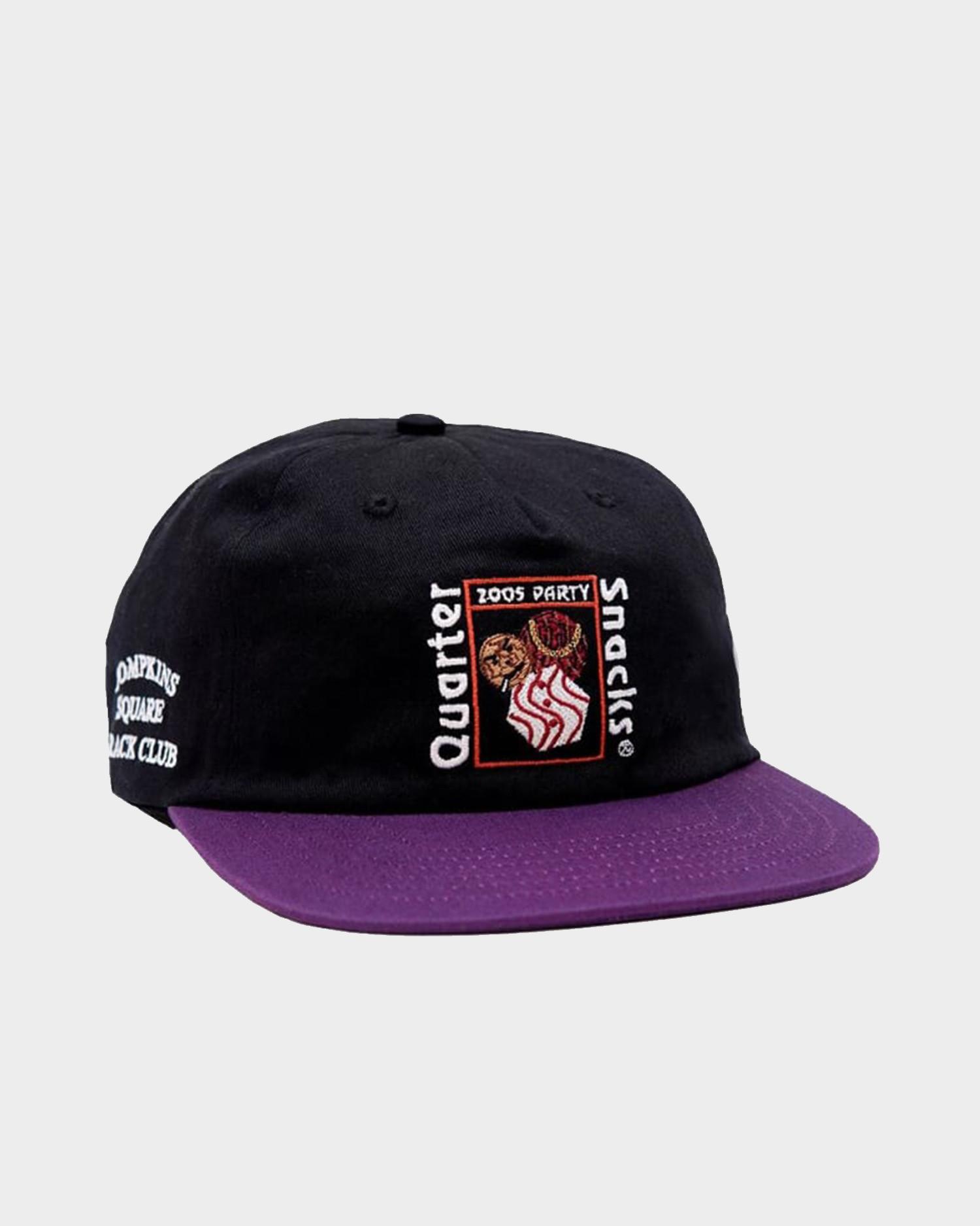 Quartersnacks Party Cap Black Purple