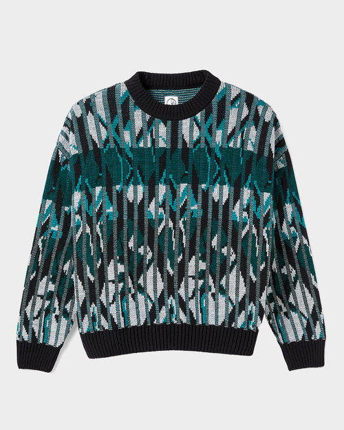 Polar Polar Crewneck Paul Knit Sweater Black