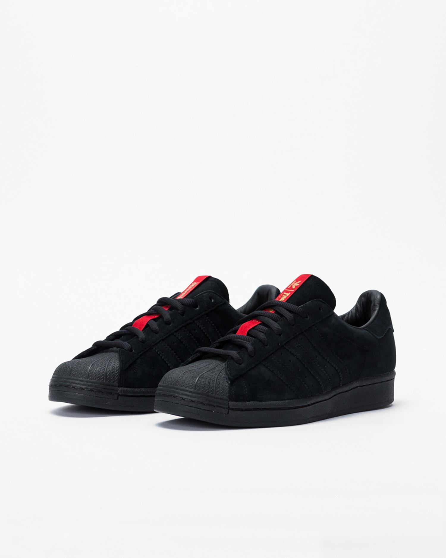 Adidas superstar ADV X Thrasher Cblack/Scarl