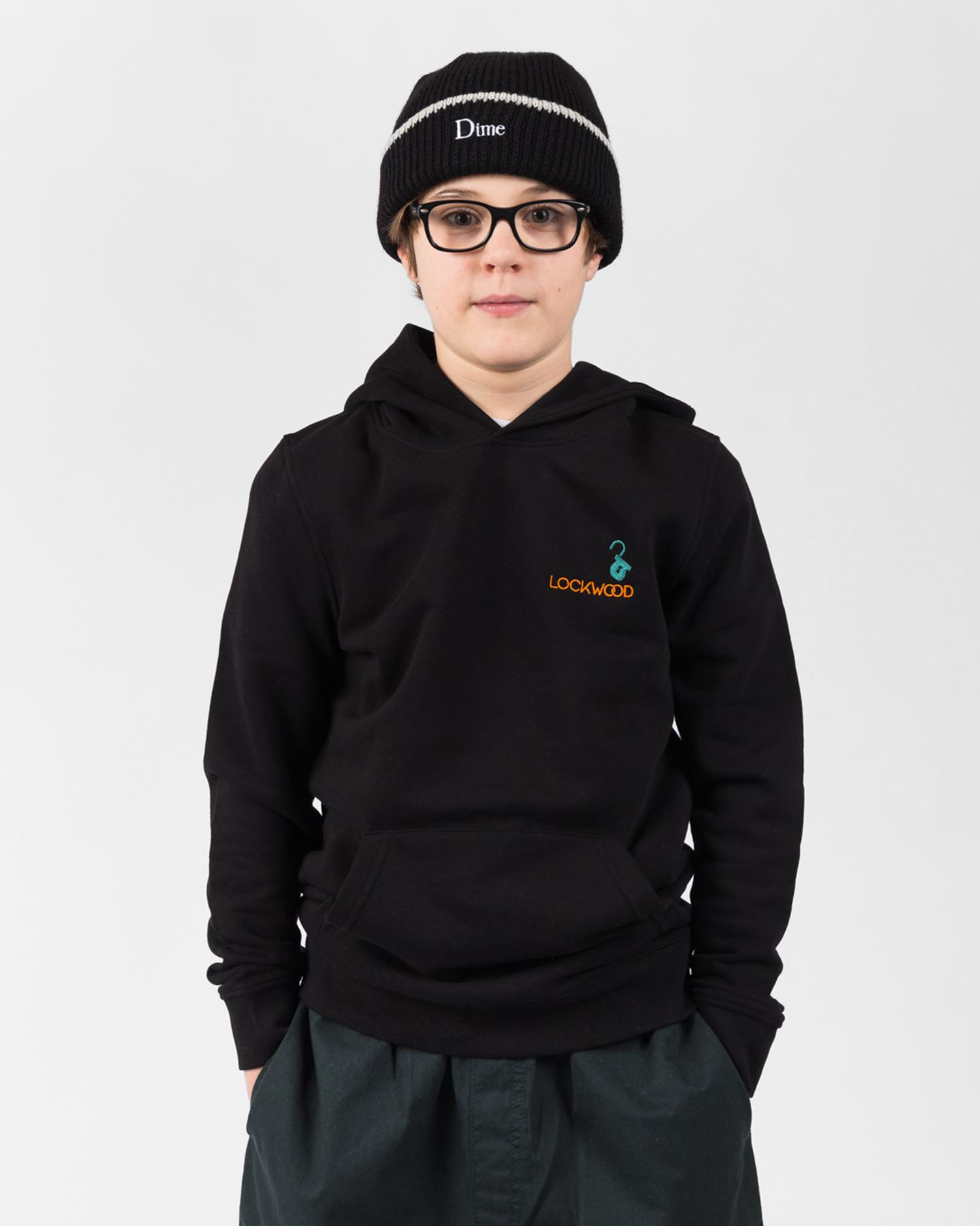 Lockwood Kids Embroidery Hoodie Black