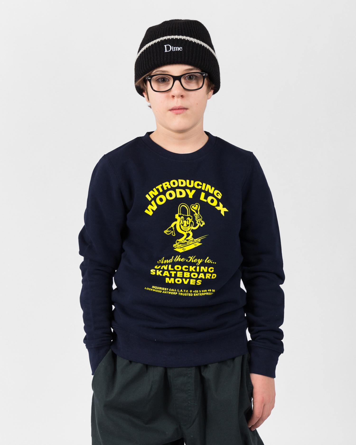 Lockwood Kids Mini Charger Crewneck Navy