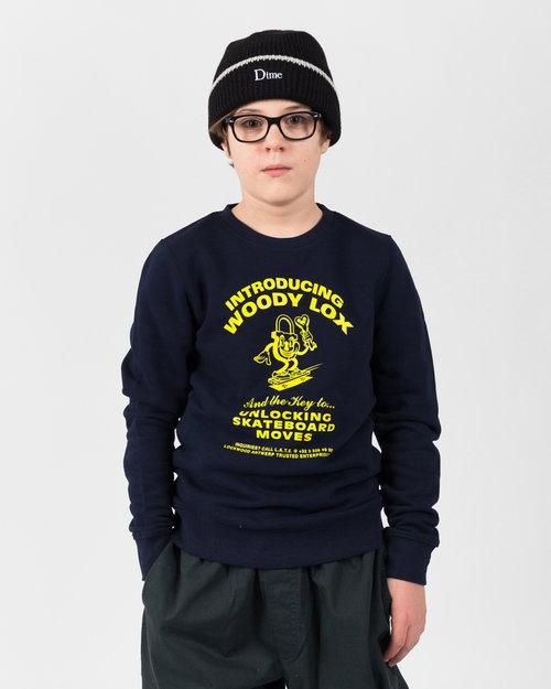Lockwood Lockwood Kids Mini Charger Crewneck Navy
