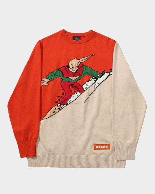 Helas Helas Himalaya Knit Sweater Rusty/Beige