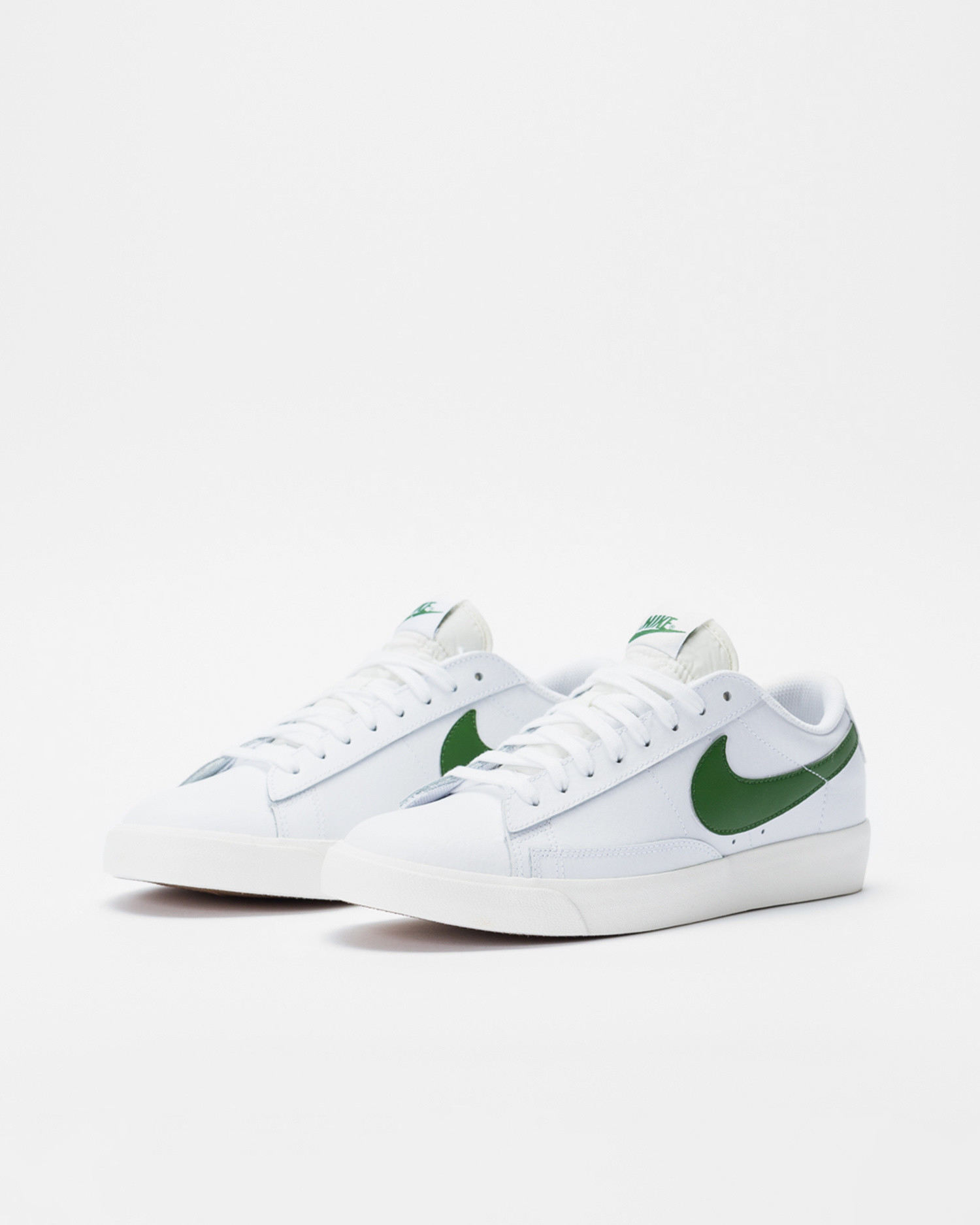 Nike Blazer Low Leather White/Forest Green-Sail