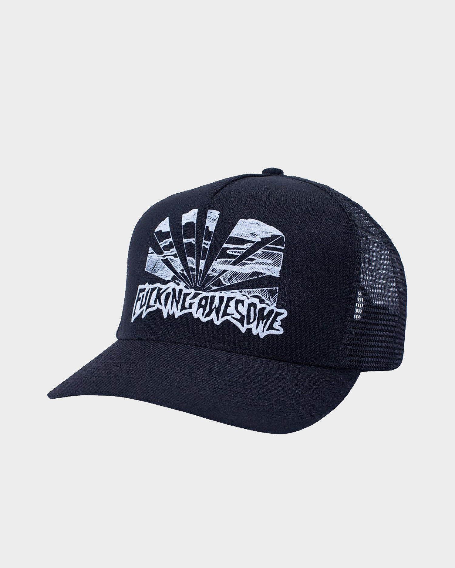 Fucking Awesome  Sunset Pre-curved Snapback Black