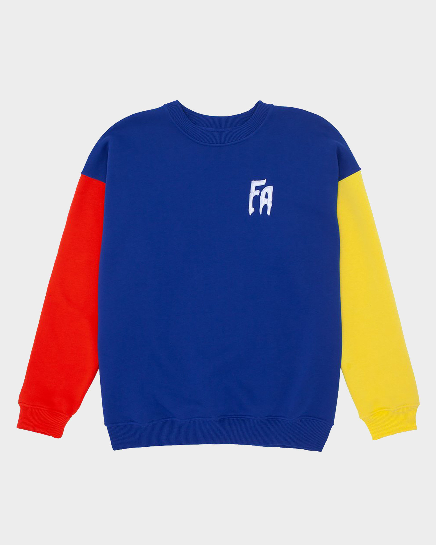 Fucking Awesome Primary Crewneck Red / Navy / Yellow