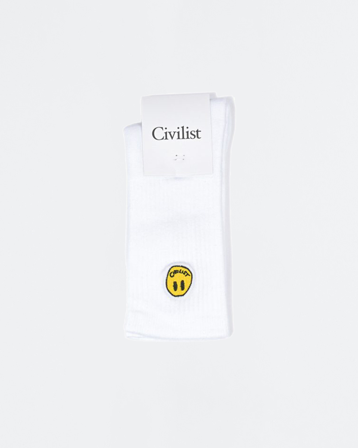 Civilist Mini Smiler Socks White