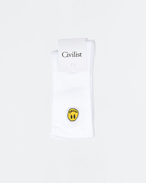 Civilist Civilist Mini Smiler Socks White