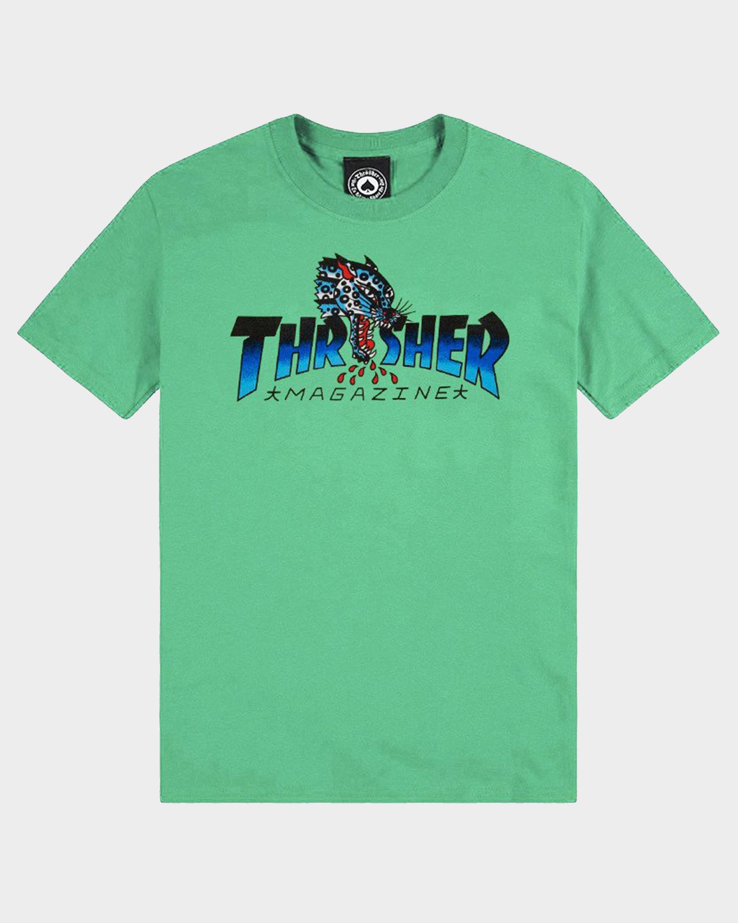 Thrasher Leopard Mag Shortsleeve Mint