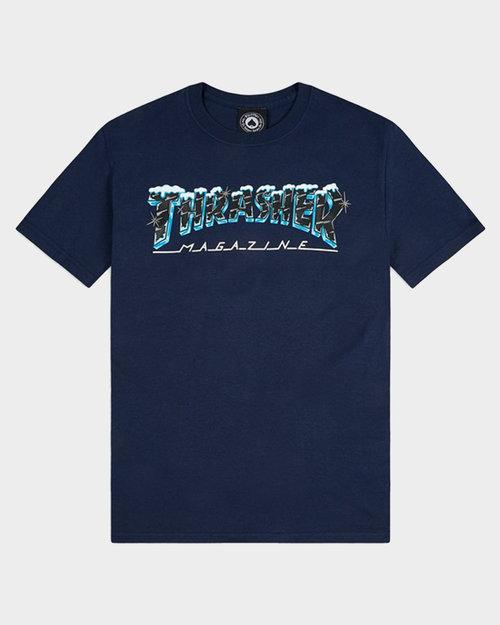 Thrasher Thrasher Black Ice Shortsleeve Navy