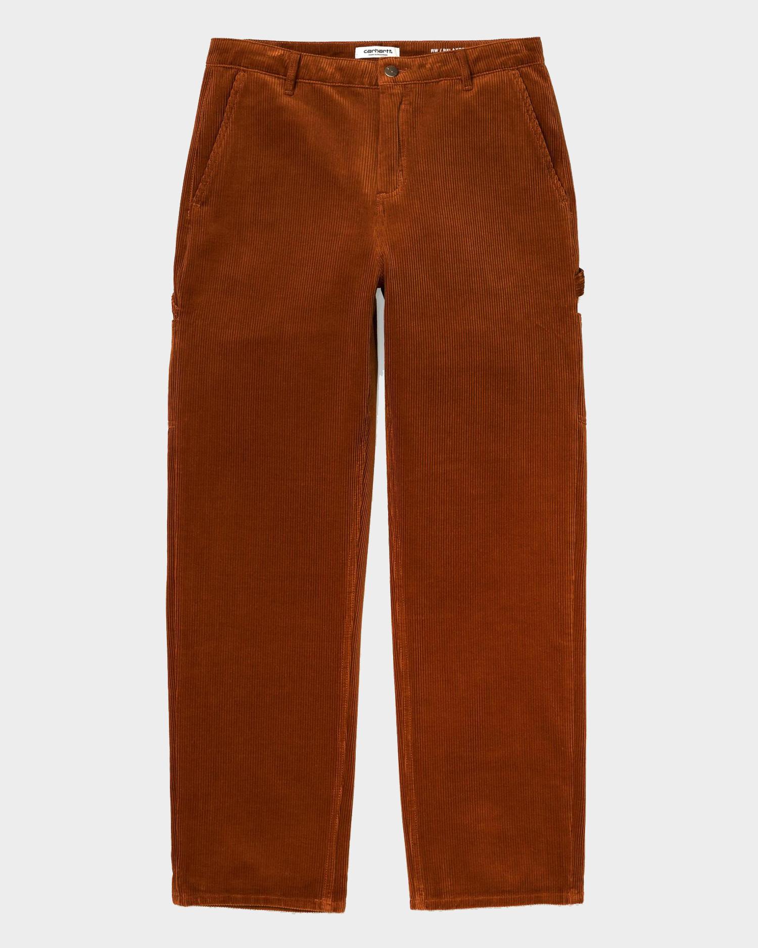 Carhartt W' Pierce Pant Straight Cotton Brandy Rinsed