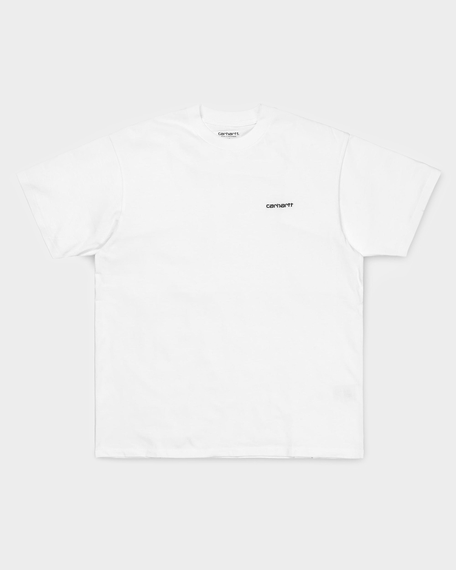 Carhartt Shortsleeve Script Embroidery T-Shirt White/Black