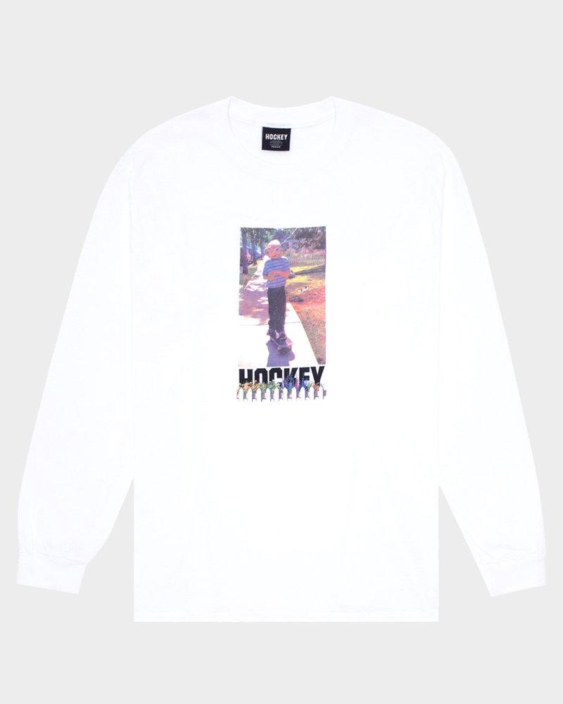 Hockey Hockey Neighbor Longsleeve T-Shirt White