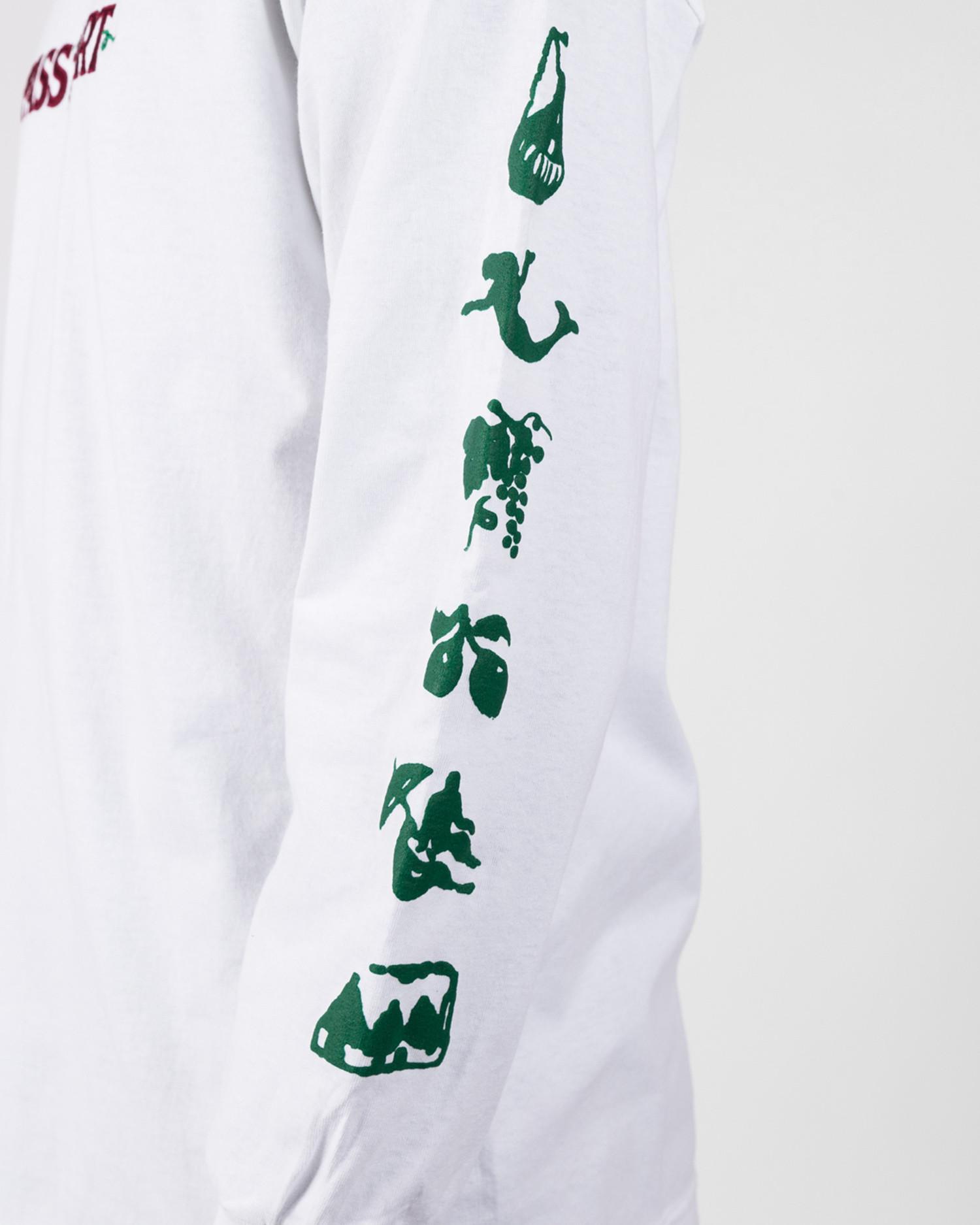 Passport Life Of Leisure Embroidery Tee Longsleeve White