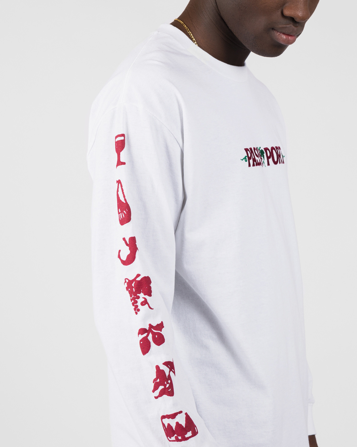 Passport Life Of Leisure Embroidery Tee Longsleeve White