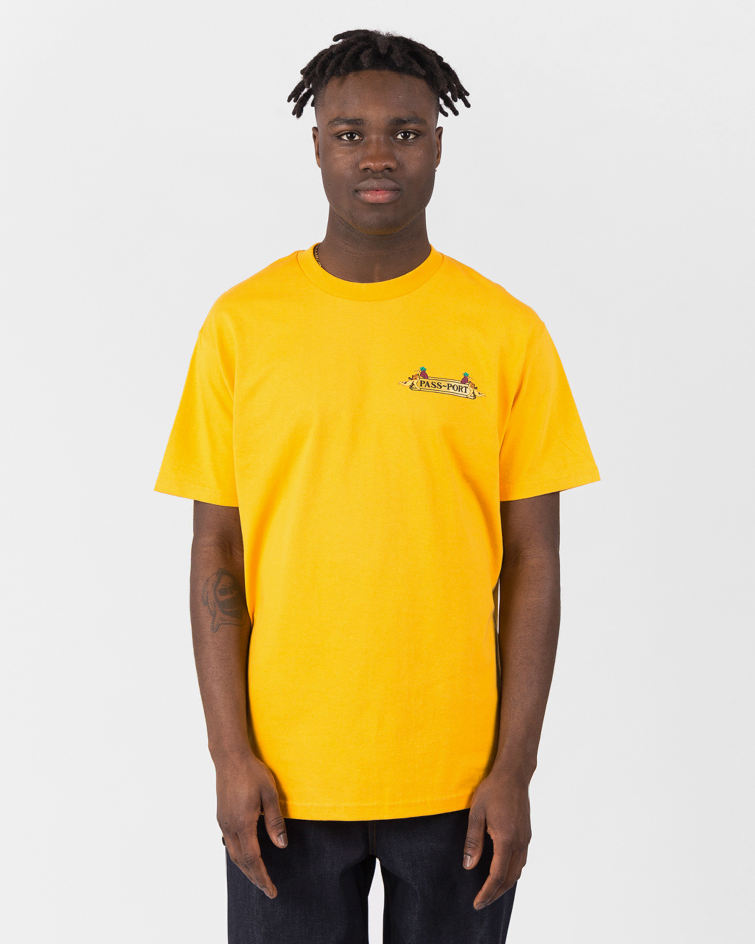 Passport Tricle Down Tee Gold