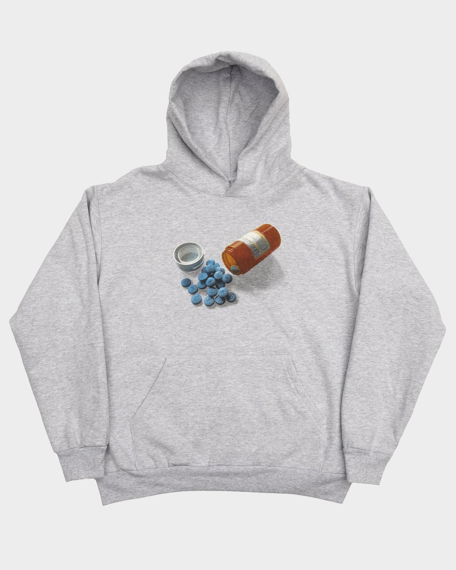 Bronze Pill Hoody Ash Grey