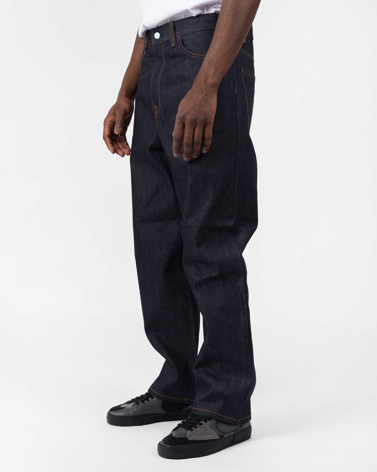 Carhartt Smith Pant Organic Cotton Monroe Blue Denim Blue Rigid